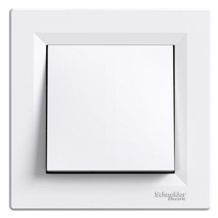 Tlačítko 1-pólový s rámečkem, bílá Schneider Electric Asfora EPH0700121