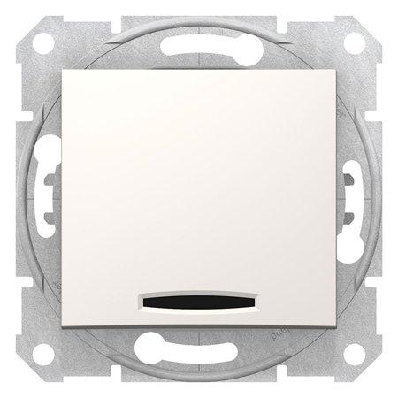 Tlačítko s podsvícením krémová Sedna SDN1600123 Schneider Electric