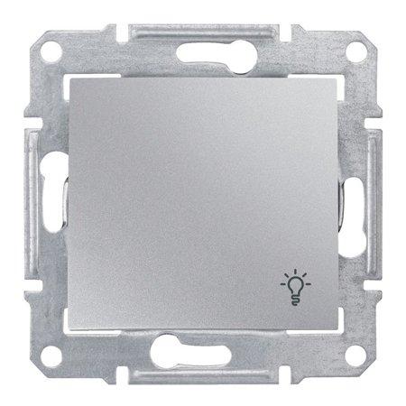 """Tlačítko """"světlo"""" IP44 hliník Sedna SDN0900360 Schneider Electric"""