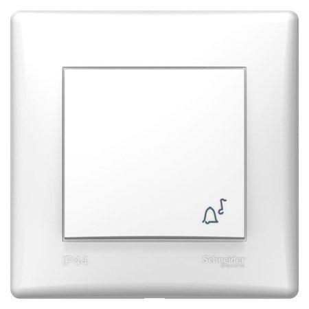 "Tlačítko ""zvonek"" IP44 bílá s rámečkem Sedna SDN0890321 Schneider Electric"