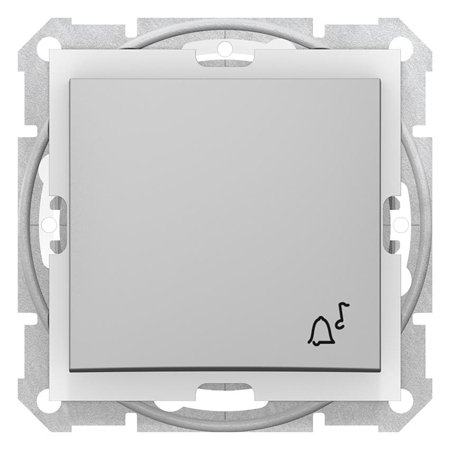 "Tlačítko ""zvonek"" IP44 hliník Sedna SDN0800360 Schneider Electric"