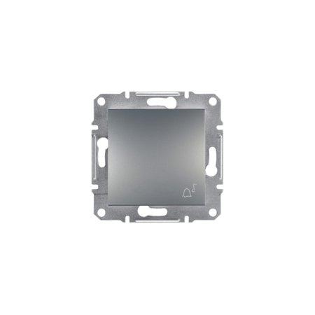 """Tlačítko """"zvonek"""" bez rámečku ocel Asfora Schneider Electric EPH0800162"""