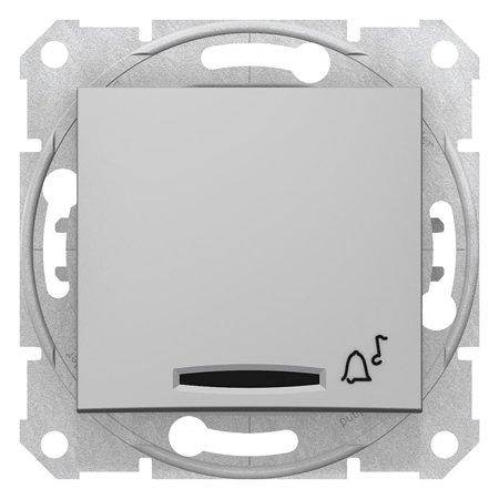 """Tlačítko """"zvonek"""" s podsvícením hliník Sedna SDN1600460 Schneider Electric"""