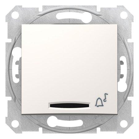 """Tlačítko """"zvonek"""" s podsvícením krémová Sedna SDN1600423 Schneider Electric"""