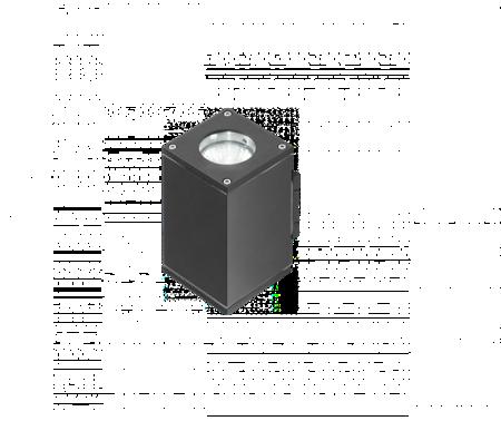 Venkovní lampa Nástěnné svítidlo Livio 2 šedá Azzardo GM1101-2