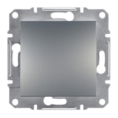 Vypínač 1-pólový bez rámečku, ocel Schneider Electric Asfora EPH0100162