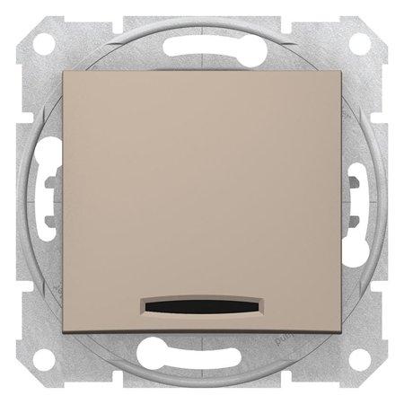Vypínač 1-pólový s podsvícením saténová Sedna SDN1400168 Schneider Electric