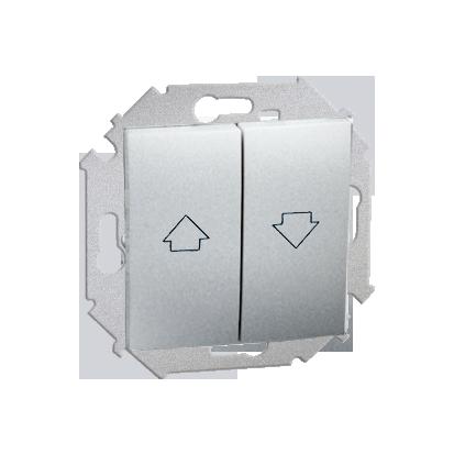 Vypínač žaluzii (modul) šroubové koncovky, hliník (kov) Kontakt Simon 1591332-026