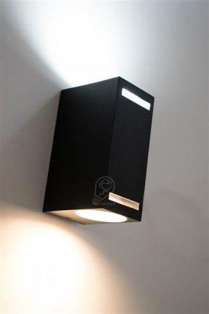 Zahradní fasádní lampa dvousměrná hranatá, Forest 2xGU10 D Struhm