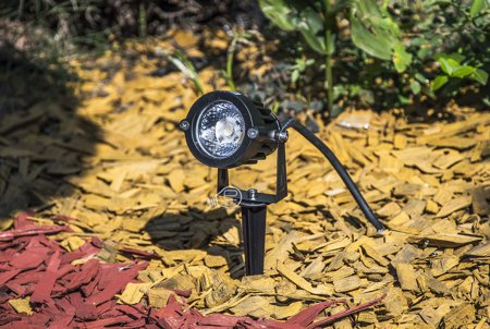 Zarážený zahradní reflektor PLANT LED 5W, 4500K, IP65, černá, 03130, Struhm