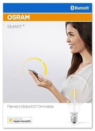 Žárovka vlákno LED stmívatelná 5,5W E27 SMART+ Filament Globe Dimmable Bluetooth OSRAM
