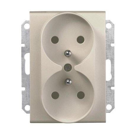 Zásuvka 2 x 2P+PE do rámečkového systému saténová Sedna SDN2800968 Schneider Electric