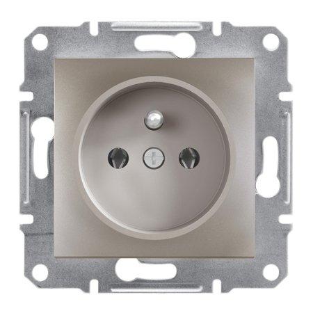 Zásuvka 2P+PE bez rámečku, hnědá Schneider Electric Asfora EPH2800169