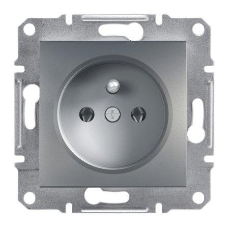 Zásuvka 2P+PE bez rámečku ocel Asfora Schneider Electric EPH2800162