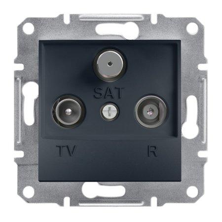 Zásuvka R-TV-SAT koncová (1dB) bez rámečku, antracit Schneider Electric Asfora EPH3500171