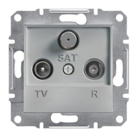 Zásuvka R-TV-SAT koncová (1dB) bez rámečku, hliník Schneider Electric Asfora EPH3500161