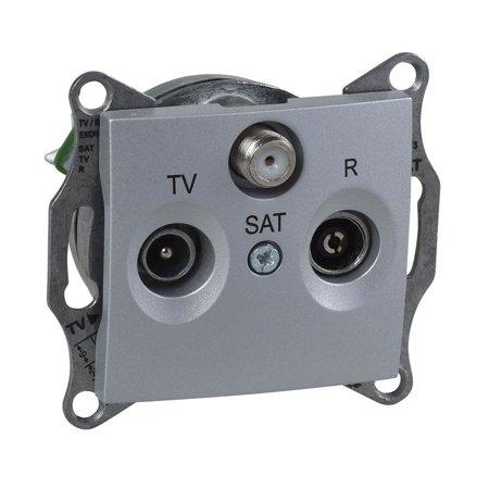 Zásuvka R/TV/SAT koncová hliník s rámečkem Sedna SDN3501560 Schneider Electric