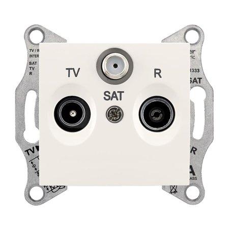 Zásuvka R/TV/SAT průchozí 4dB krémová Sedna SDN3501423 Schneider Electric
