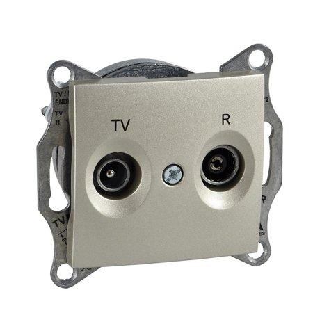 Zásuvka R/TV koncová saténová Sedna SDN3301668 Schneider Electric