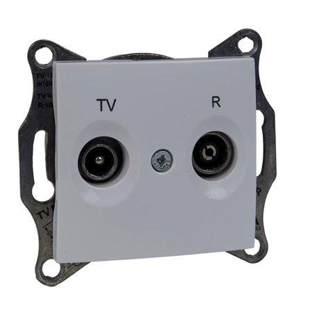 Zásuvka R/TV průchozí bílá Sedna SDN3301821 Schneider Electric