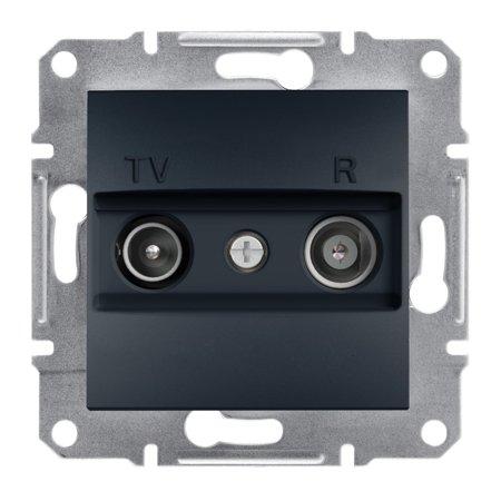 Zásuvka RTV koncová bez rámečku, antracit Schneider Electric Asfora EPH3300171