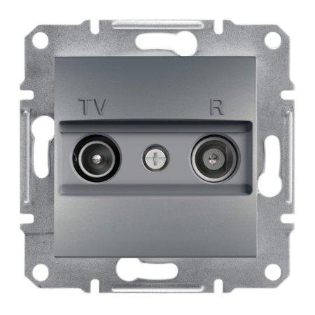 Zásuvka RTV průchozí (8dB) bez rámečku, ocel Schneider Electric Asfora EPH3300362