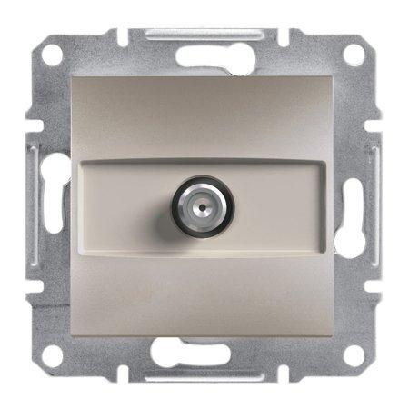 Zásuvka SAT průchozí bez rámečku, hnědá Schneider Electric Asfora EPH3700269