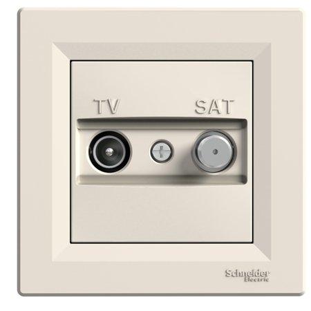 Zásuvka TV-SAT koncová (1dB) s rámečkem, krémová Schneider Electric Asfora EPH3400123