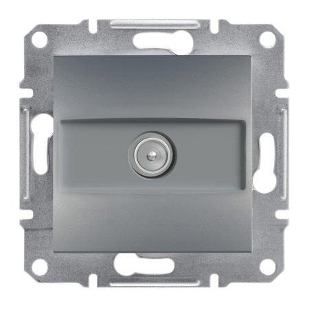 Zásuvka TV průchozí (4dB) bez rámečku, ocel Schneider Electric Asfora EPH3200262