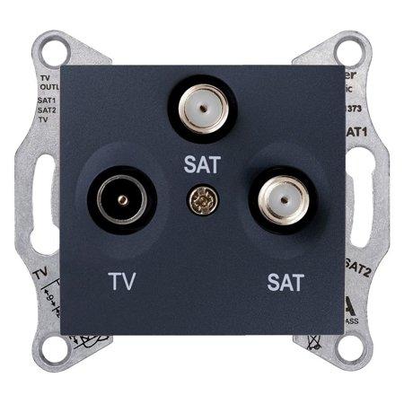 Zásuvka Tv/SAT/SAT koncová, grafitová Sedna SDN3502170 Schneider Electric