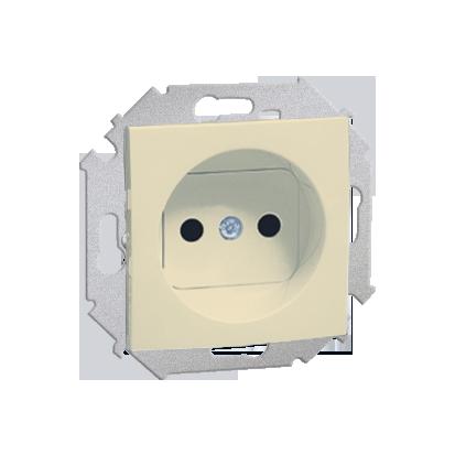 Zásuvka jednonásobná bez uzemnění (modul) šroubové koncovky, béžová Kontakt Simon 1591401-031