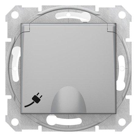 Zásuvka schuko IP44, hliník Sedna SDN3100360 Schneider Electric