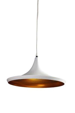 Závěsná lampa Chink bílá zlatá Azzardo LP6002-L WH/ GO