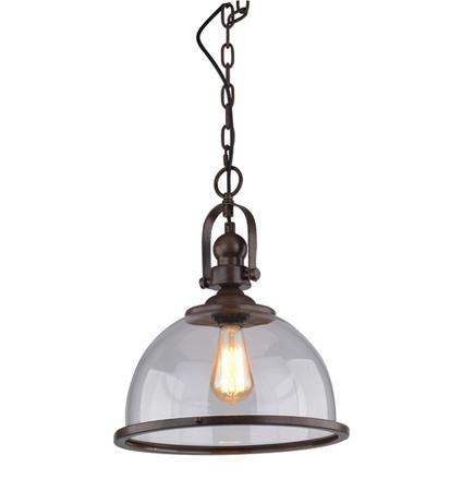 Závěsná lampa Clare hnědá transparentní Azzardo 71255-1