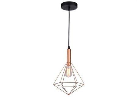 Závěsná lampa Diamond měď Azzardo MD5039-1C