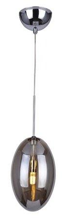 Závěsná lampa Diana 1 chrom kouřová Azzardo MD50199-1
