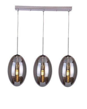 Závěsná lampa Diana 3 chrom kouřová Azzardo MD50199-3