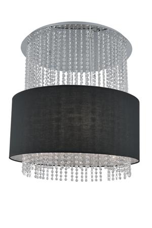 Závěsná lampa Glamour kruh černá Azzardo 101163R SP5 BK