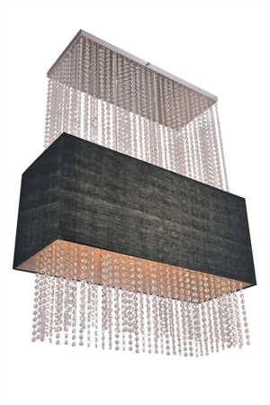 Závěsná lampa Glamour obdelníková černá Azzardo 101163 SP5 BK
