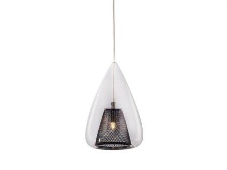 Závěsná lampa Gordon černá průhledná Azzardo MD16002005-1A