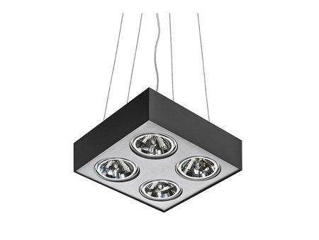 Závěsná lampa Paulo 4 230V LED 16W černá hliník Azzardo GM5400