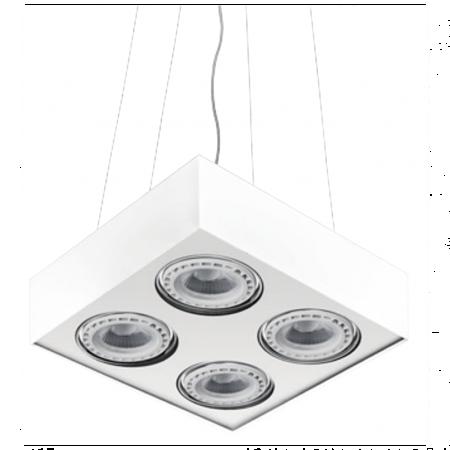 Závěsná lampa Paulo 4 230V LED 7W stmívatelné bílá Azzardo GM5400