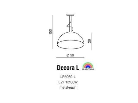 Závěsná stropní lampa Decora L bílá Azzardo AZ2161